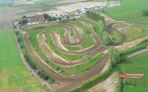 Aerial view - Motocross Track Komen