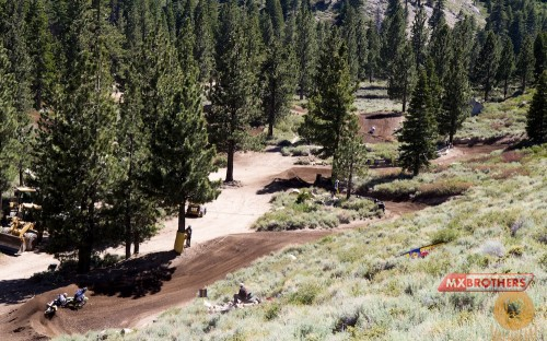 Motocross track Mammoth Mountain - California - United States