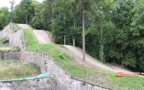 Motocross track Namur - The legendary steps up the Citadelle