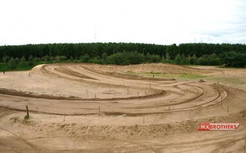 Corner view Motocross track Lommel