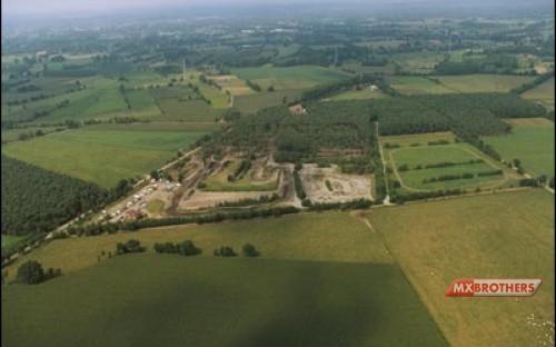 Aerial view - Motcross track Olmen / Hondapark
